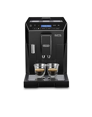 De'Longhi ECAM44.660.B, Fully Automatic Bean to Cup Coffee Machine, Espresso Maker, ECAM 44.660.W, Black, Stainless Steel, 1450 W, 2 liters, Eletta Cappuccino