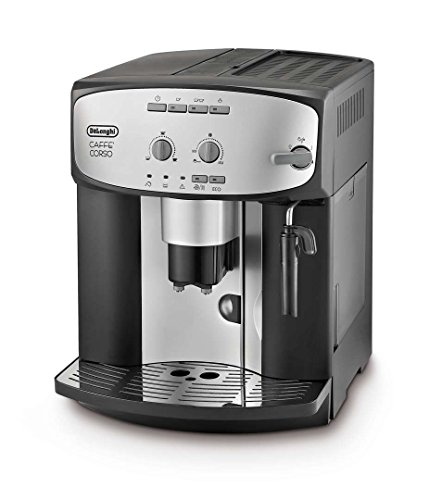 De'Longhi ESAM2800.SB Caffe' Corso Bean to Cup, 1450 W, 1.8 Litre, Silver and Black