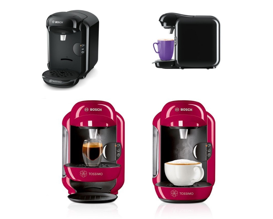 The looks and style of the bosh Tassimo coffee pod machine