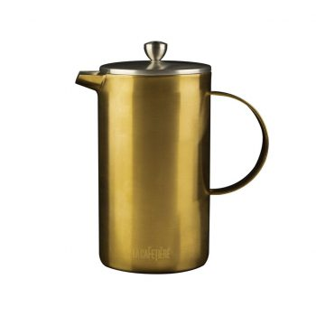 Brushed Gold La Cafetiere Double Walled Cafetiere2