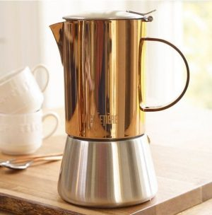 La Cafetiere 4 Cup Stainless Steel Copper 1