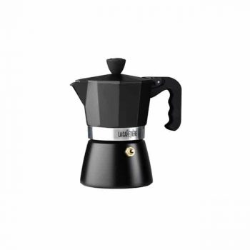 La Cafetiere Classic Espresso 3 Cup Black Moka Pot