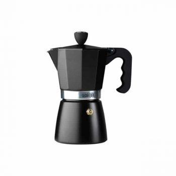La Cafetiere Classic Espresso 6 Cup Black Moka Pot
