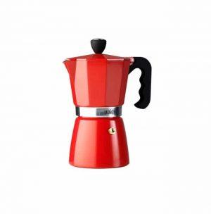 La Cafetiere Classic Espresso 6 Cup Red Moka Pot