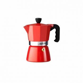 Red La Cafetiere Classic 3 Cup Espresso Moka Pot