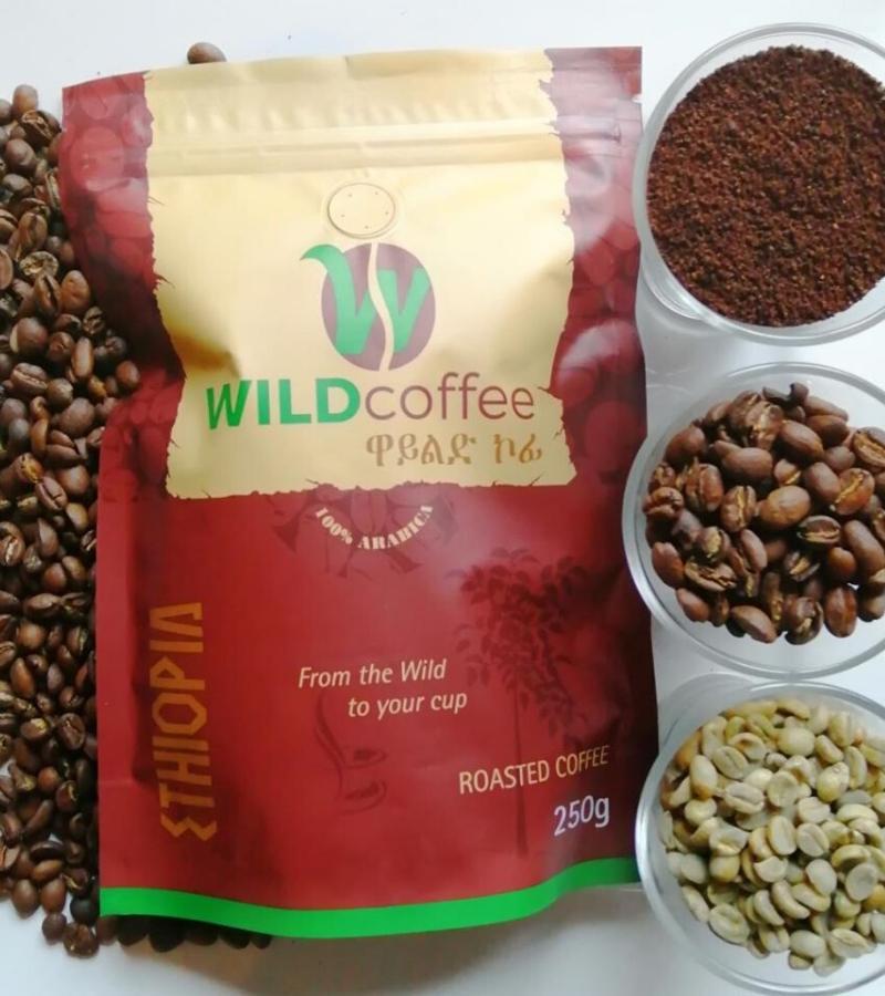 Wild Coffee Medium Dark Roast Ethiopian Coffee Bean